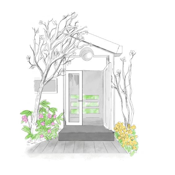 家の入り口イラスト